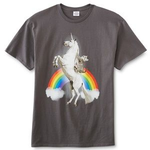 Other - Cat on unicorn rainbow t-shirt